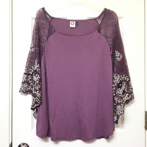 Anthropologie | Embroiders Floral Top M